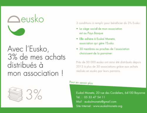Plus de 13 000 eusko de dons distribués à 43 associations grâce au « 3% Eusko »