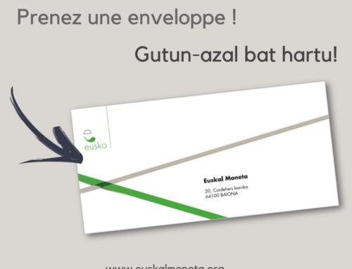 Nouveau : Ouvrez un compte eusko en 3 minutes !