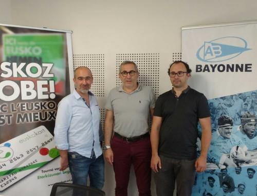 L'Aviron Bayonnais, 1er club professionnel à adhérer à l'Eusko!