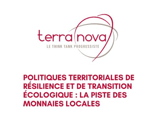 Terra Nova Think tank-a tokiko moneten alde