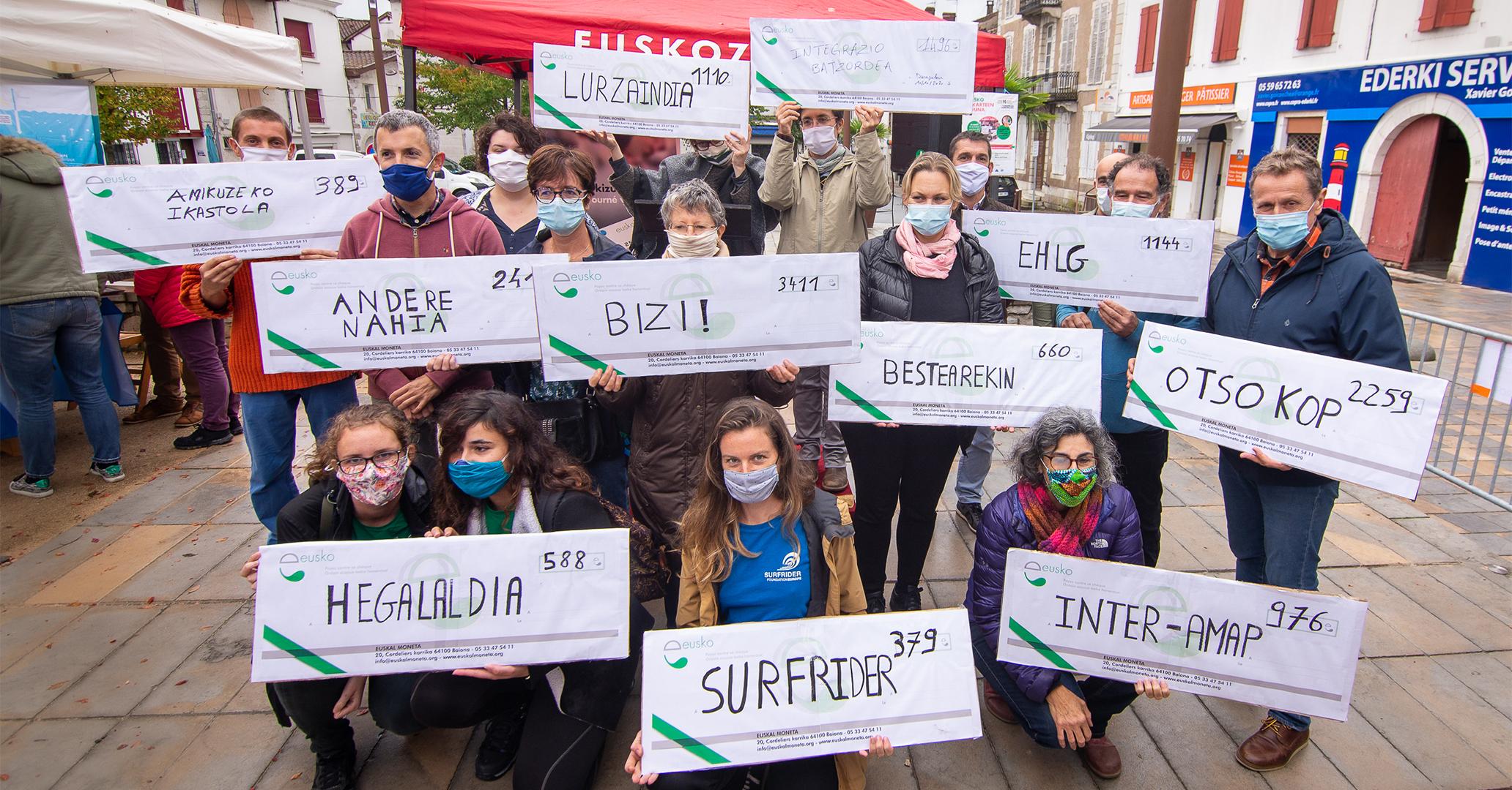 38 674 eusko donnés aux associations du Pays Basque !
