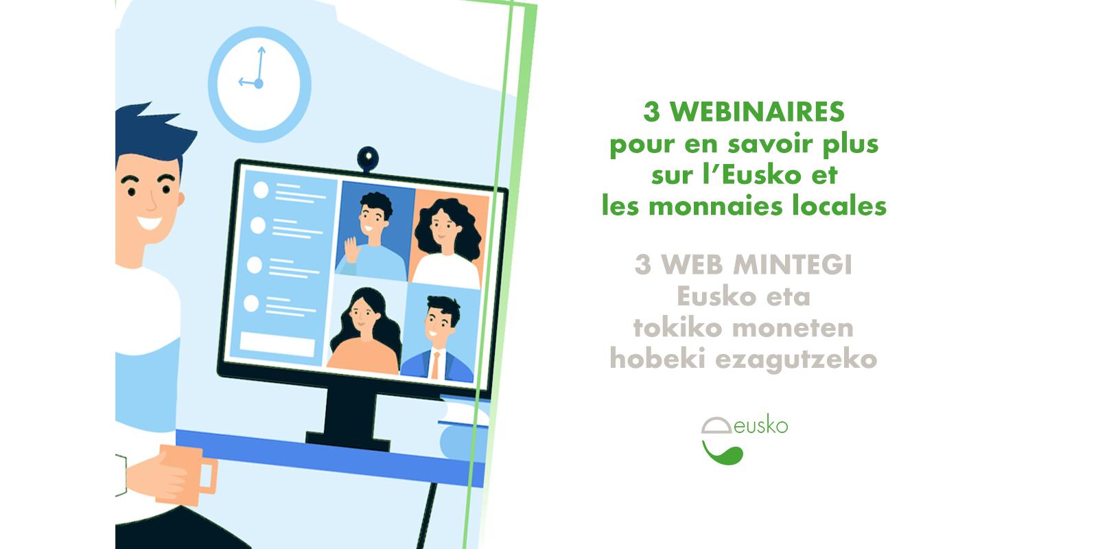 Un cycle de trois webinaires pour tout comprendre sur l'Eusko et les monnaies locales