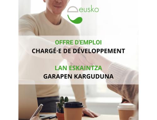 L'Eusko recrute un·e chargé·e de développement !